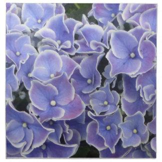 Blue Hydrangea Pattern Cloth Napkin