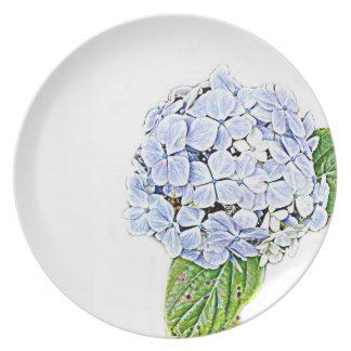 Blue Hydrangea Print Plate