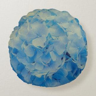 Blue Hydrangea Round Cushion