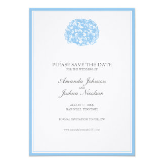 Blue Hydrangea Save the Date Card