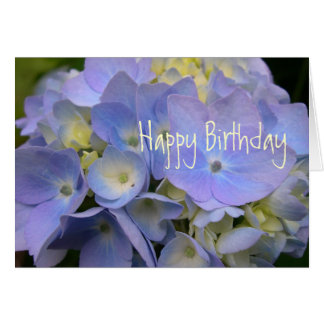 Blue Hydrangea Scripture Birthday Card