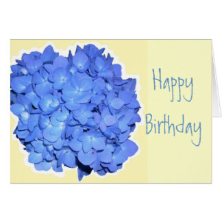 Blue Hydrangea Scripture Birthday Greeting Card