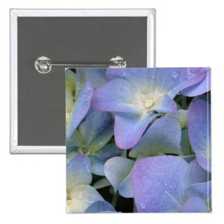 Blue Hydrangea Square Pin