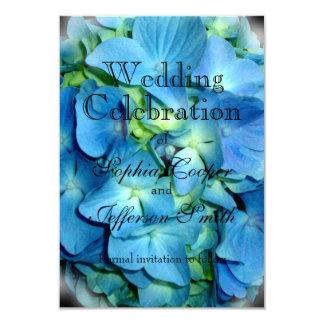 Blue Hydrangea Wedding collection 9 Cm X 13 Cm Invitation Card