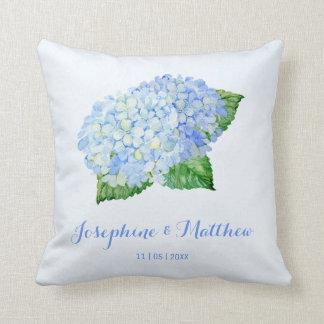 Blue Hydrangea Wedding Cushion