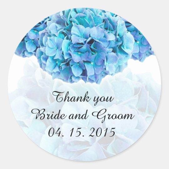 Blue hydrangea wedding favour tags hydrangea3