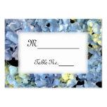 Blue Hydrangea Wedding Place Cards Business Card Templates