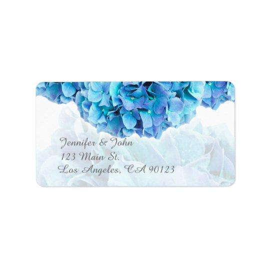 Blue Hydrangea Wedding Return Address Labels