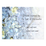Blue Hydrangea Wedding RSVP Response Card Custom Invites