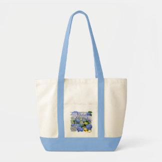 BLUE HYDRANGEA  ~ Wedding Tote Tote Bags