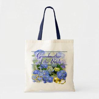 BLUE HYDRANGEA  ~ Wedding Tote Canvas Bag