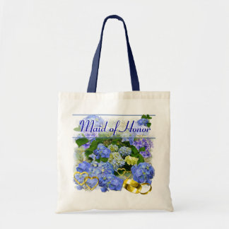BLUE HYDRANGEA  ~ Wedding Tote Canvas Bags