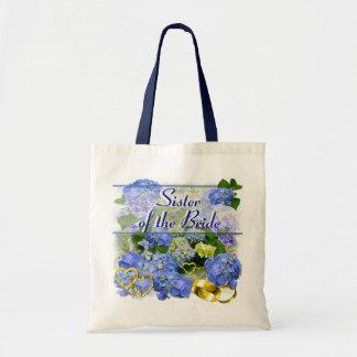 BLUE HYDRANGEA  ~ Wedding Tote Bags