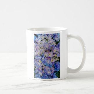 Blue Hydrangea White Coffee Mug