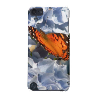 Blue Hydrangea with Butterfly iPod Touch Case