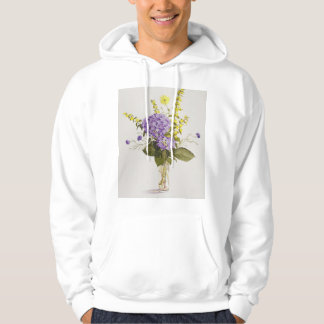 Blue Hydrangea with Yellow Loosestrife Hoodie