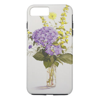 Blue Hydrangea with Yellow Loosestrife iPhone 8 Plus/7 Plus Case