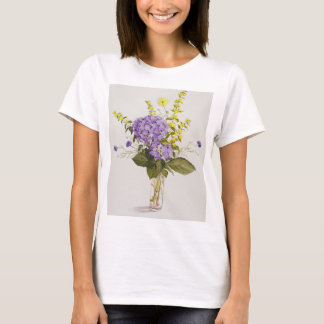 Blue Hydrangea with Yellow Loosestrife T-Shirt