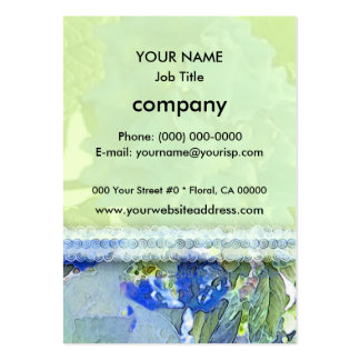 Blue Hydrangeas 1 Pack Of Chubby Business Cards