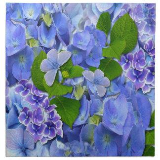 Blue Hydrangeas and Butterflies Napkin