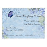 Blue Hydrangeas, Butterfly & Swirl Modern Floral Pack Of Chubby Business Cards