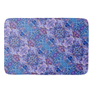 Blue Hydrangeas Flowers Foam Bath Mat Home Decor