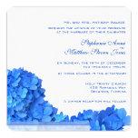 Blue Hydrangeas Garland Wedding Invitations 2, Sky