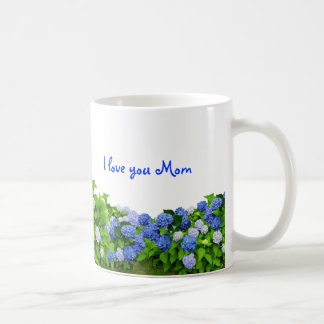 Blue Hydrangeas Mom's Coffee Mug