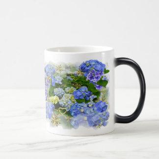 BLUE HYDRANGEAS ~  Morphing Mug