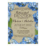 Blue Hydrangeas Rehearsal Dinner 5x7 Personalized Announcement