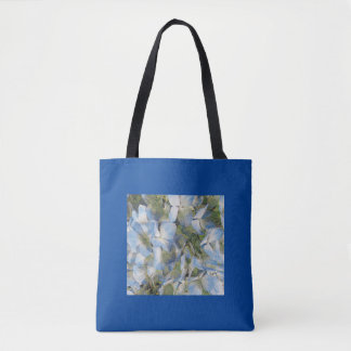 Blue hydrangeas tote bag