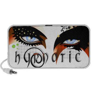 Blue Hypnotic Eyes Make Up Travel Speakers