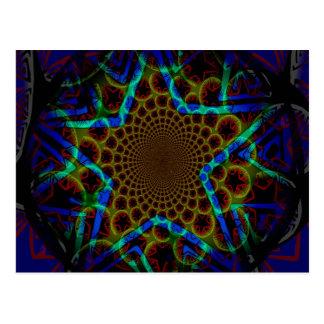 Blue Hypnotic Star Postcard