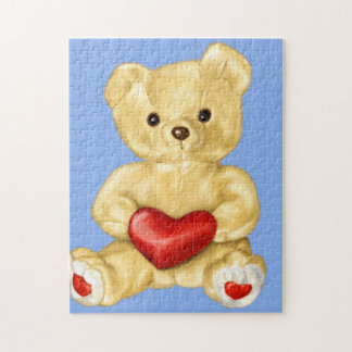 Blue Hypnotizing Cute Teddy Bear Jigsaw Puzzle