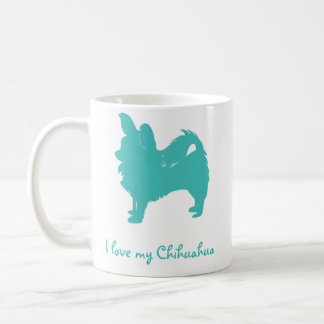 Blue I Love My Chihuahua Coffee Mug