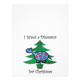 Blue I want a dinosaur for christmas 21.5 Cm X 28 Cm Flyer