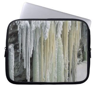 Blue Ice and Ground Water Run Off; Tahquamenon Laptop Sleeve