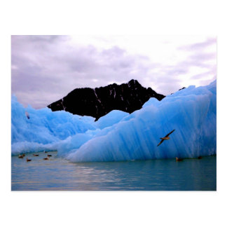 Blue ice berg postcard