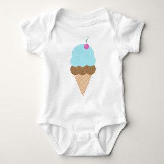 Blue Ice Cream Cone Baby Bodysuit