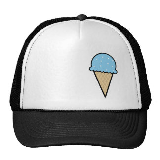 Blue Ice Cream Cone Cap