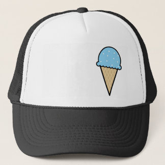 Blue Ice Cream Cone Trucker Hat