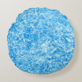 BLUE ICE CRYSTALS ROUND CUSHION