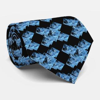 Blue Ice Cubes Tie