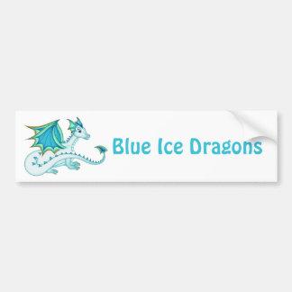 Blue Ice Dragon Bumper Sticker