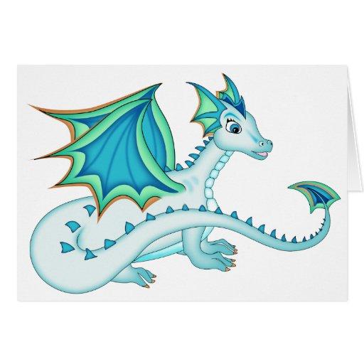 Blue Ice Dragon Card
