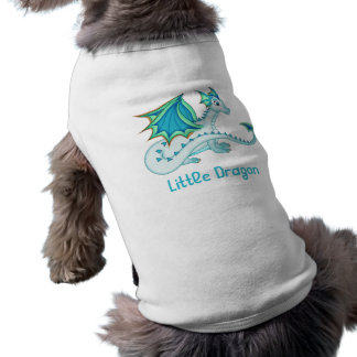 Blue Ice Dragon Dog Outfit Pet T Shirt