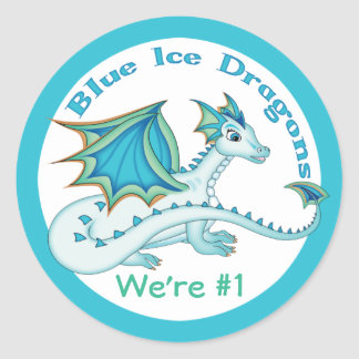 Blue Ice Dragon Stickers