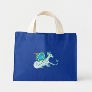 Blue Ice Dragon Tote Bag