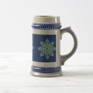 Blue Ice Floral Snowflake Stein