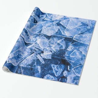 Blue ice for hot summer wrapping paper